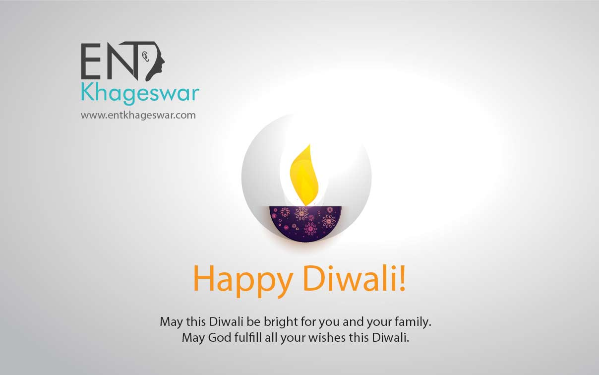 ENT clinic khageswar wishes happy and safe diwali